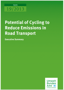 Report_Potencial of cycling reduce emissions_UBA